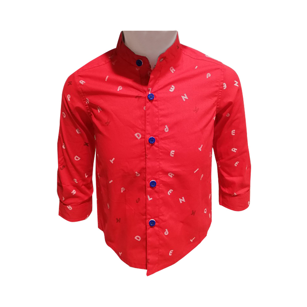 Kidsplanet Child Boy Shirt L/S No-2931SC Size-6Y to 8Y (Age-6 to 8 Years)