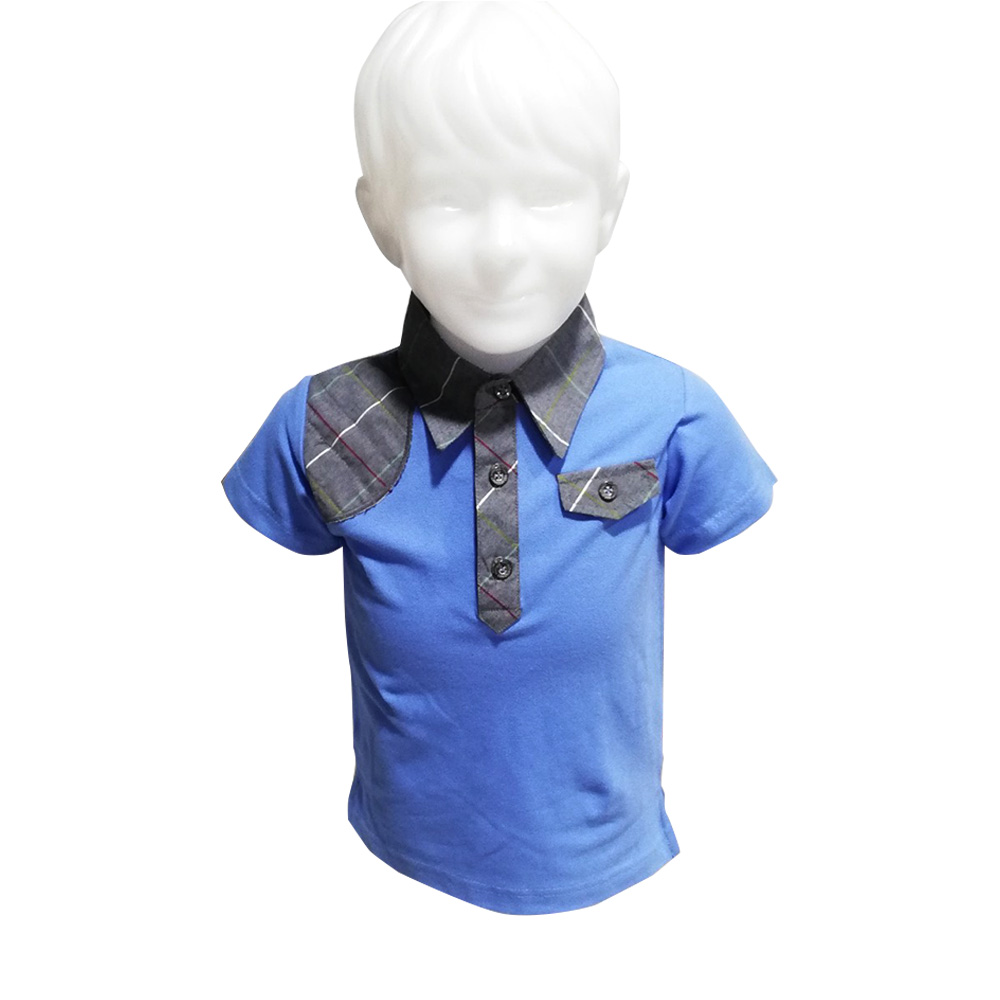 Kidsplanet Child Boy Polo Shirt S/S No-2706CA Size-12M to 2Y (Age-1 to 2 Years)