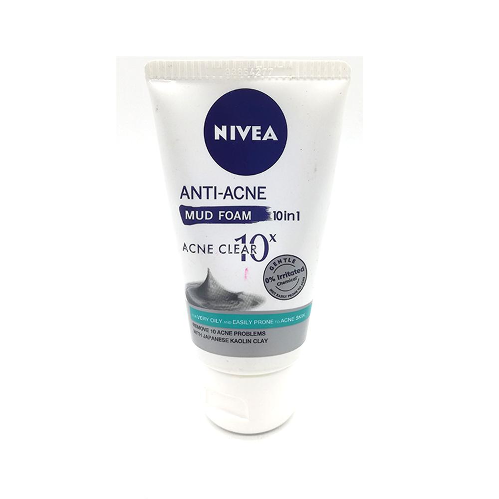 Nivea Facial Cleanser Anti-Acne Mud Foam 50g