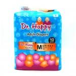 "Dr.Happy Adult Diapers Medium 10's (25"" 50"" Size 65) 126cm"