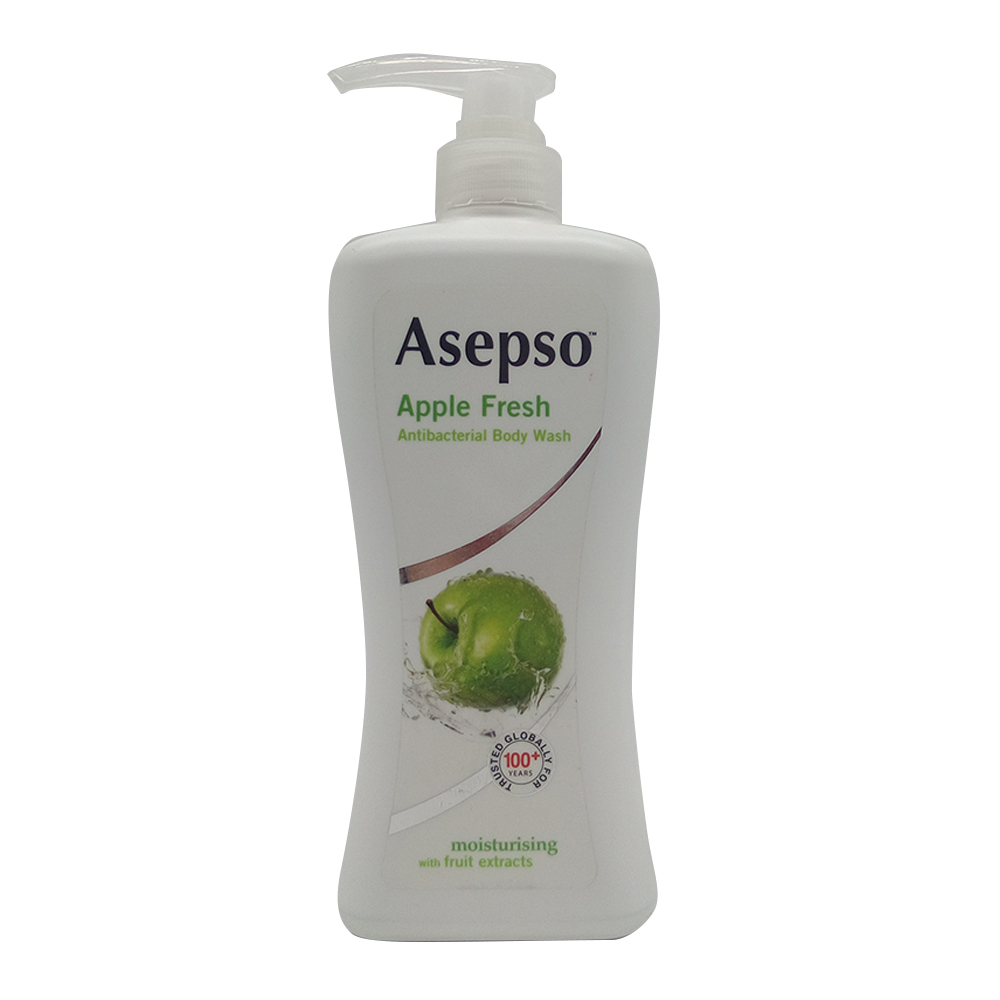 Asepso Antibacterial Body Wash Apple Moisturinsing With Fruit Extract 650ml