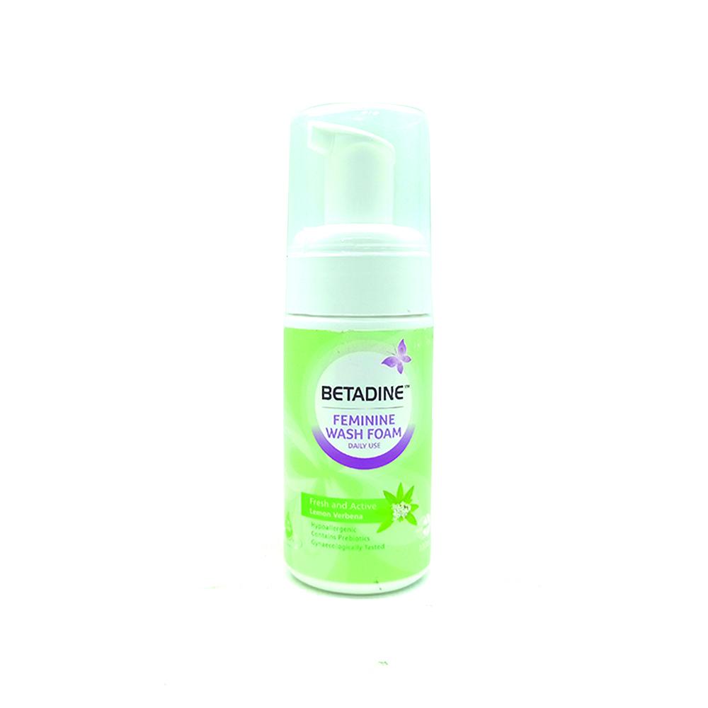 Betadine Feminie Wash Foam Fresh and Active Lemon Verbena 100ml