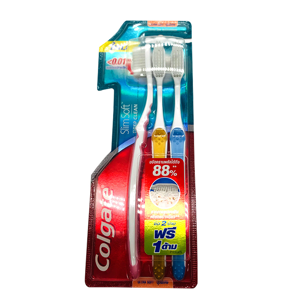 Colgate Toothbrush Slim Soft Deep Clean Ultra Soft 3's