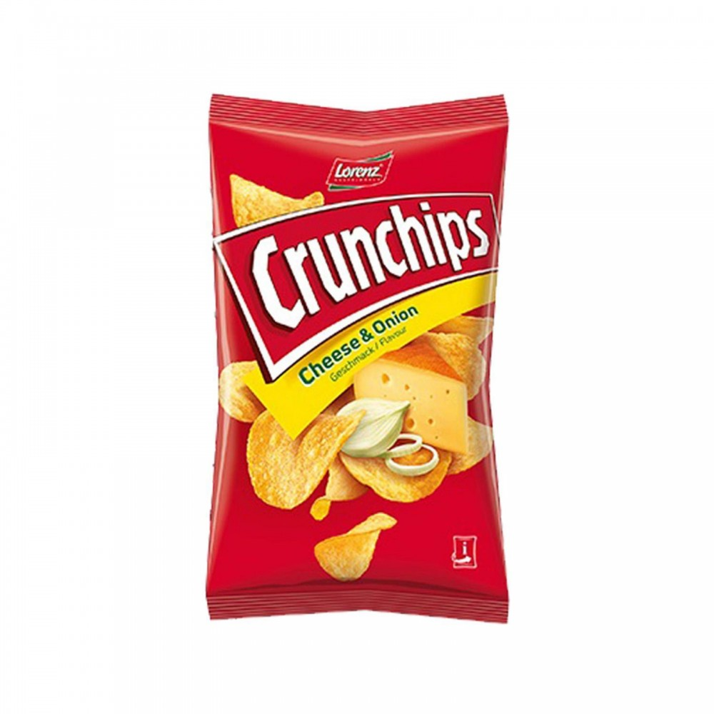 Lorenz Crunchips Potato Chips Cheese & Onion 100g
