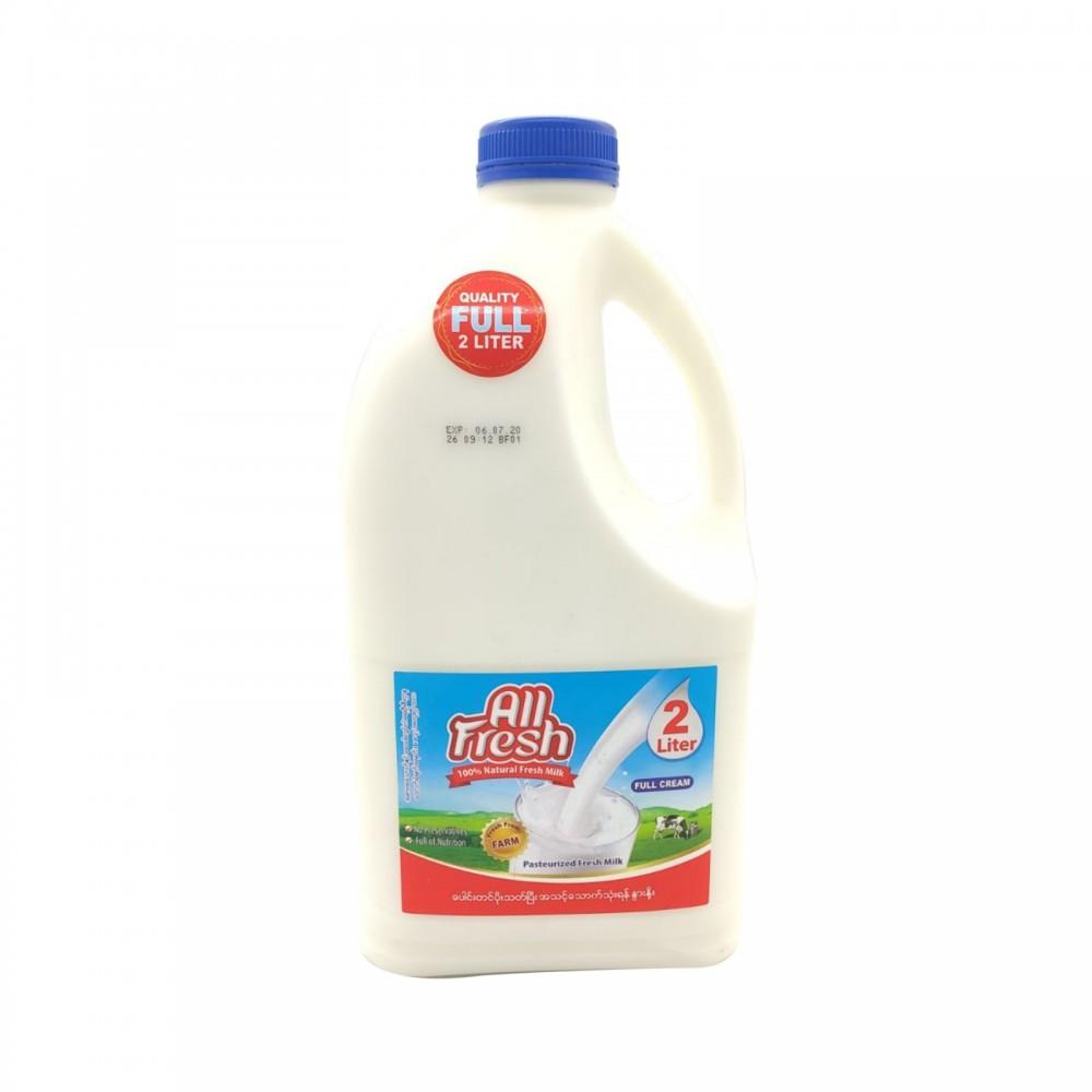 All Fresh 100%Natural Fresh Milk Full Cream 2ltr