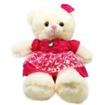 Bear Character Doll With Ribbon 2'