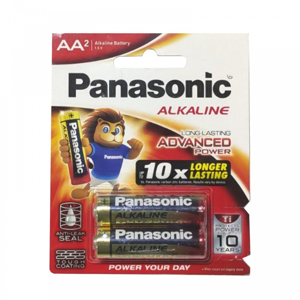 Panasonic Alkaline AA2 LR6T-2B Advanced Power