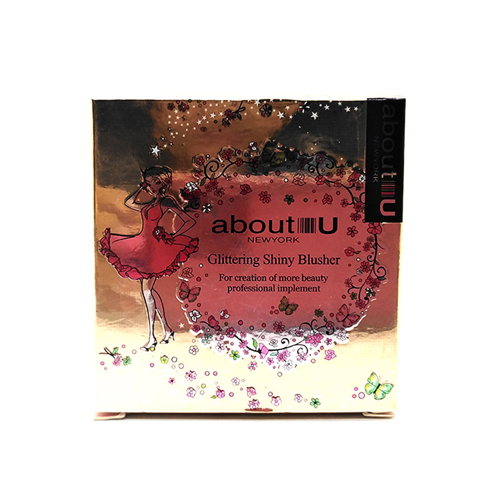 About-U Glittering Shiny Blusher 4-Glam Peach