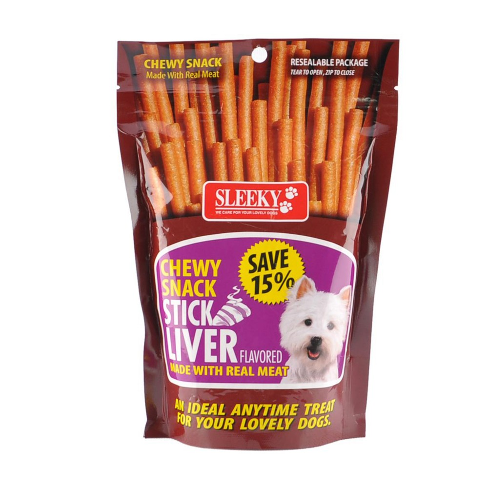 Sleeky Dog Food Chewy Snack Stick Liver Flavored 175g