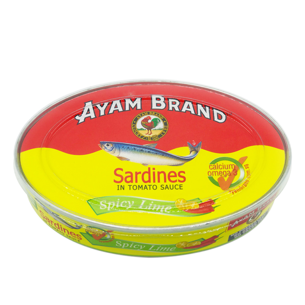 Ayam Brand Sardines In Tomato Sauce Spicy Lime 215g