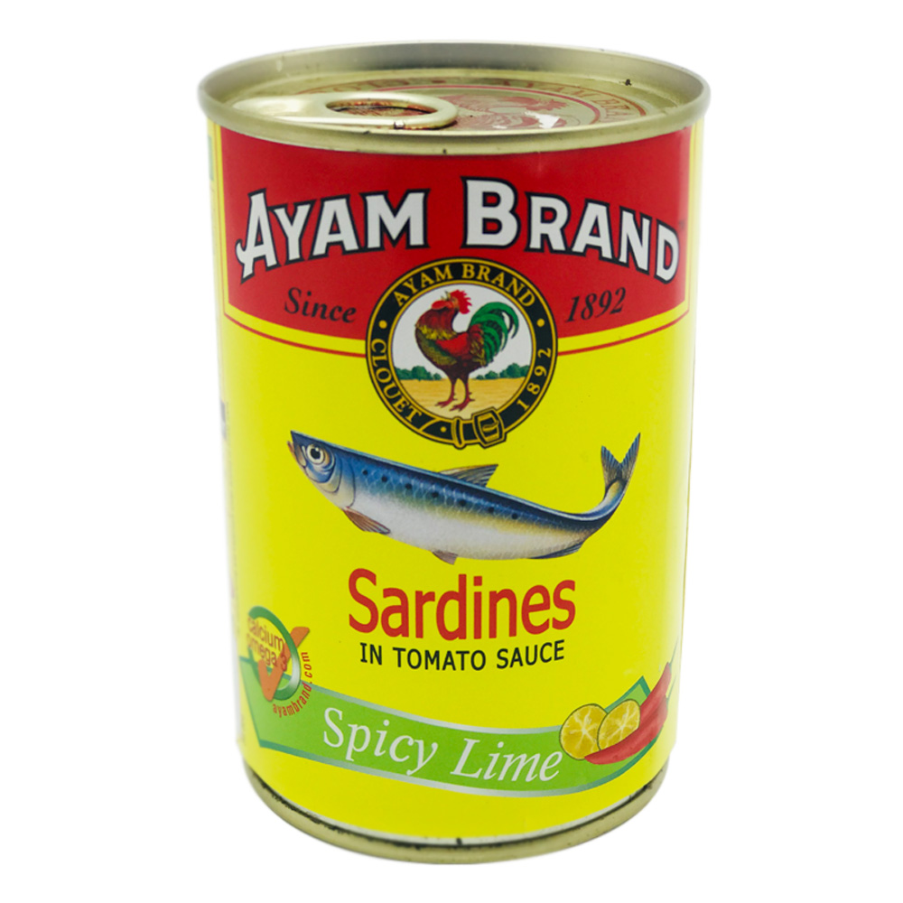 Ayam Brand Sardines In Tomato Sauce Spicy Lime 425g