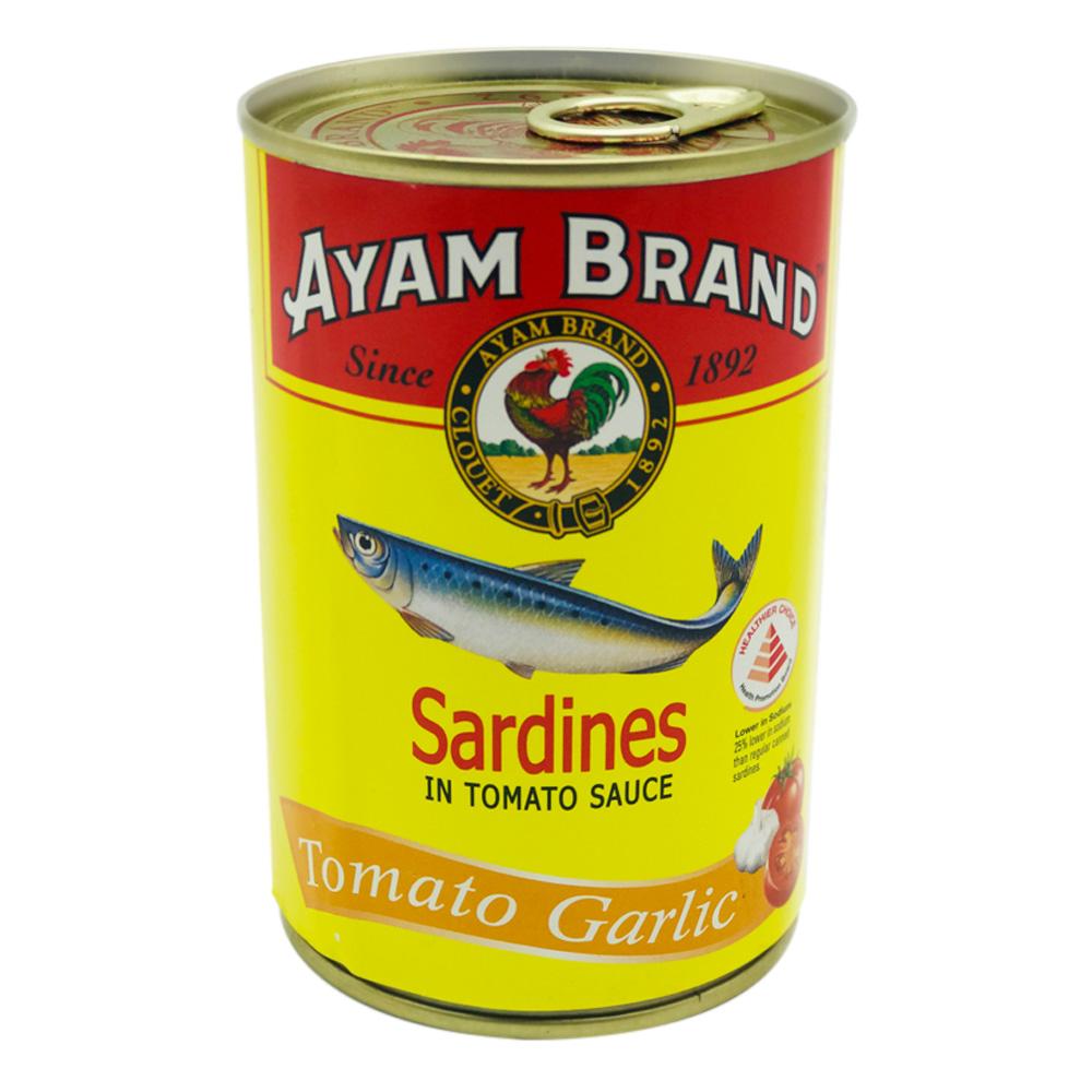 Ayam Brand Sardines In Tomato Sauce Tomato Garlic 425g