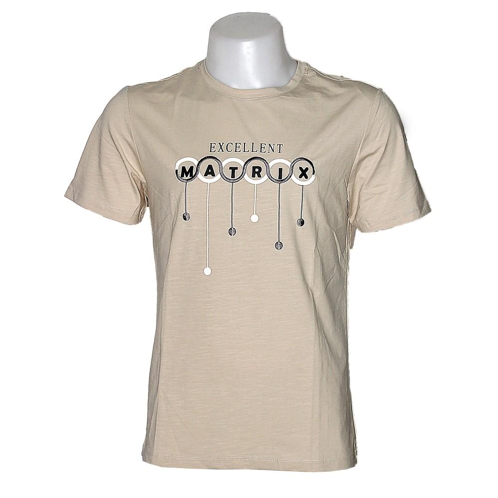 Matrix Men T-Shirt Beige S/S MT-00214