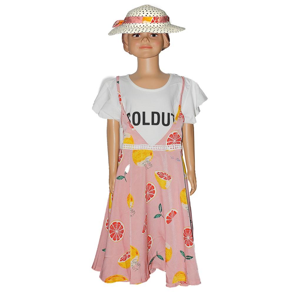 Child Girl Dress S/S Pink BH-27196