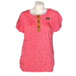 Women Blouse S/S Pink LW-012070