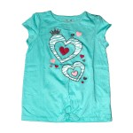 Child Girl T-Shirt S/S L-Green BY-00095