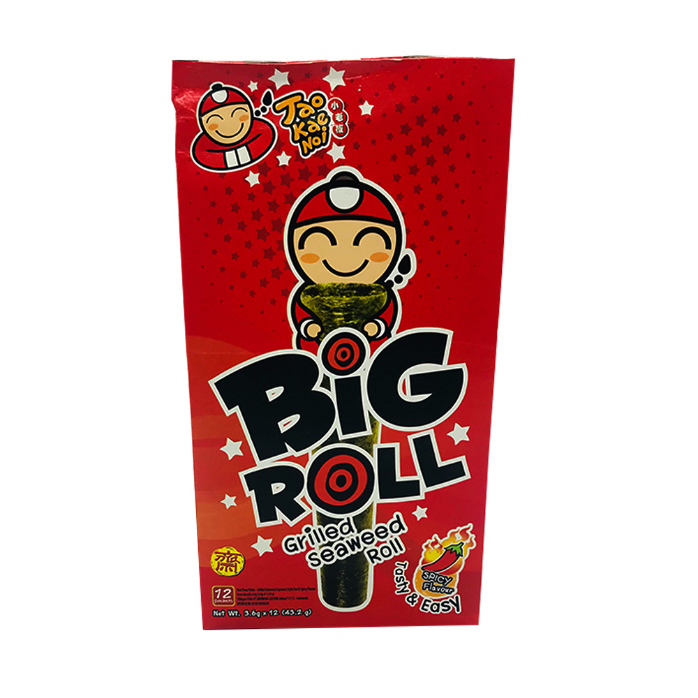 Tao Kae Noi Big Roll Grilled Seaweed Roll Spicy 12's 43.2g