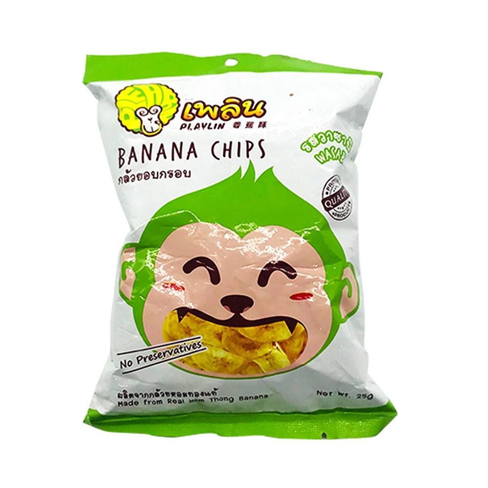 Playlin Banana Chips Wasabi 25g