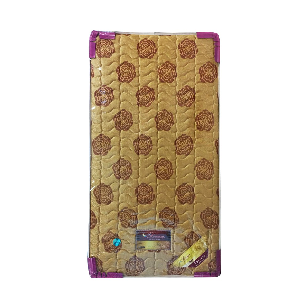 "Dream Spring Mattress DGO-41 Gold (Size-3' 6"" x 6' 6"" x 9"")"