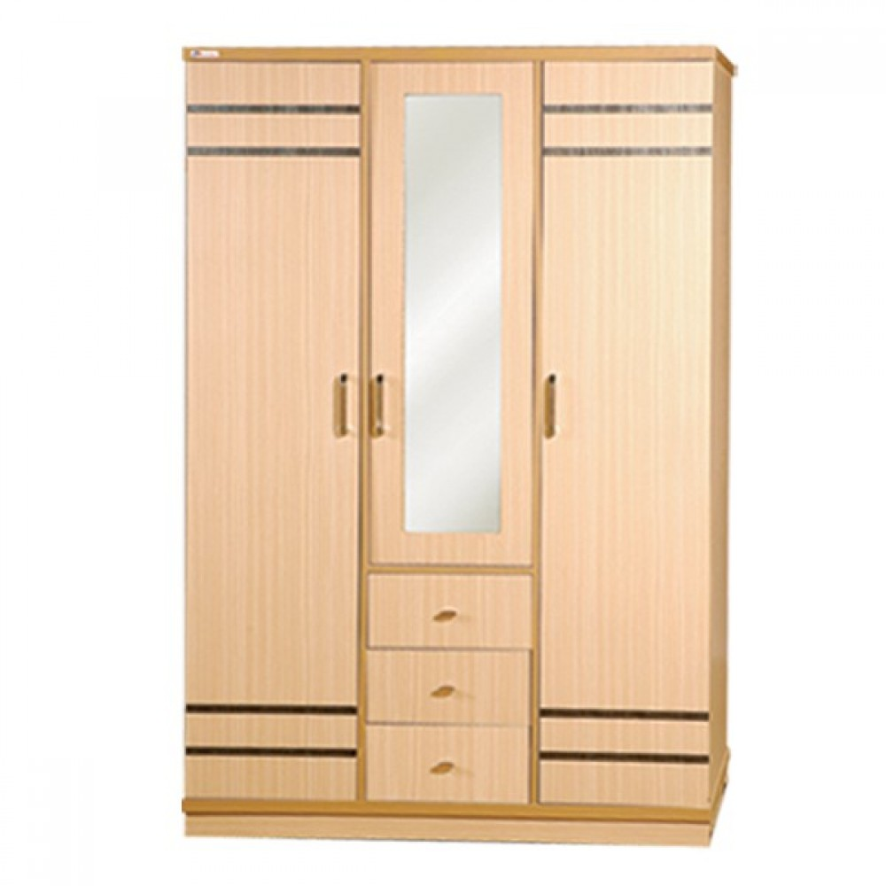 """Sweety Home 3 Door Cabinet (Kyate Thar) No.MWR-9902 4'x1'8""""x5.5'"""