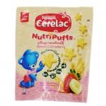 Nestle Cerelac Nutripuffs Cereal Snacks Banana & Strawberry 50g