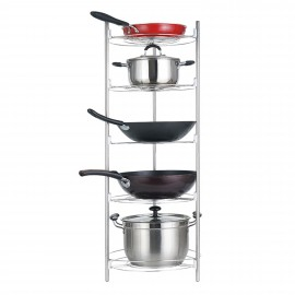 Kitchen Use Pot Storage Rack 5 Tiers Steel