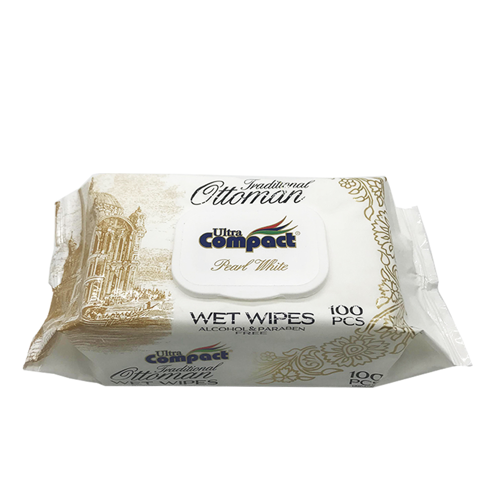 Ultra Compact Wet Wipes Pearl White 100's