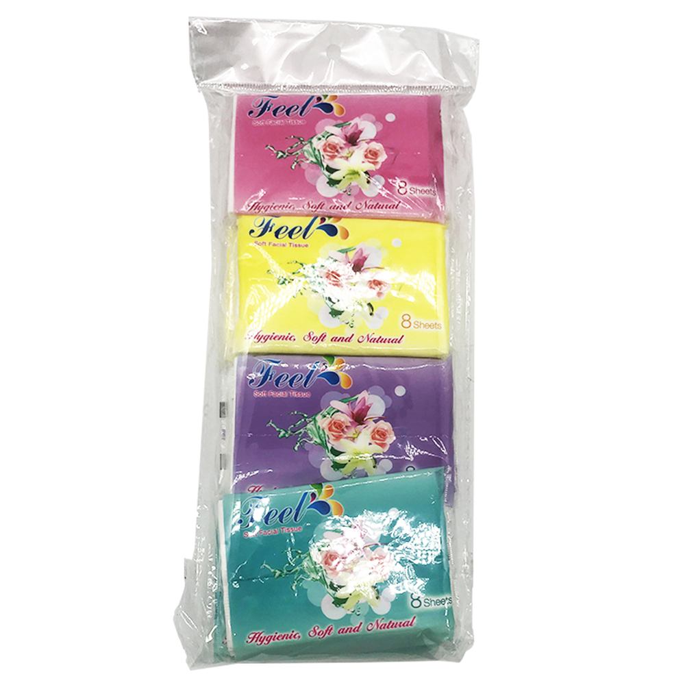 Feel Soft Facial Pocket Tissue 8's x 16pkt