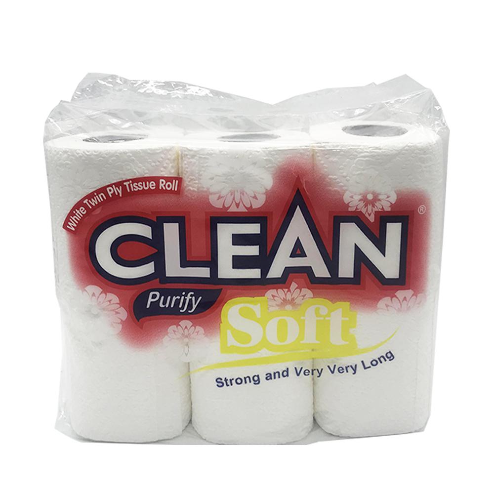 Clean Bathroom Tissue Soft 2ply 6Roll